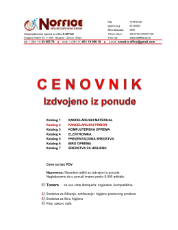 Katalog 2 – Kancelarijski pribor