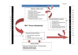 Sema procesa Vorex - mp vorex inženjering
