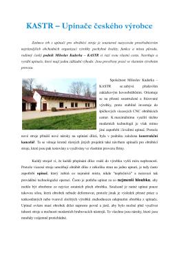 KASTR – Upínače českého výrobce