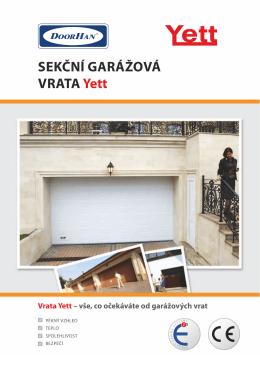Sekční garážová vrata Yett