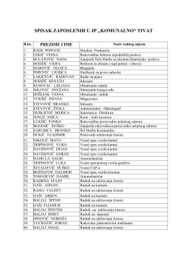 Spisak zaposlenih u JP