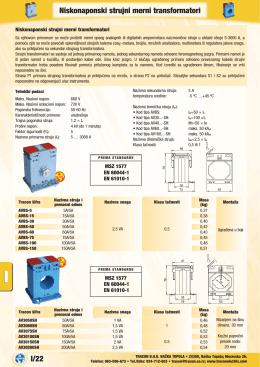 I/22 Niskonaponski strujni merni transformatori