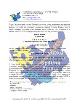 TURISTIČKA ORGANIZACIJA OPŠTINE ŽITIŠTE 23210 Žitište, Cara