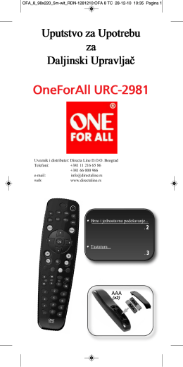 OneForAll URC-2981