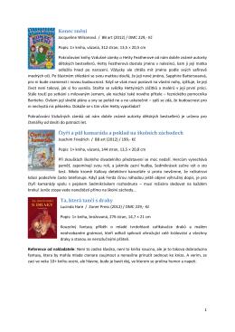 Anotace vybraných knih
