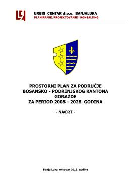 prostorni plan za područje bosansko