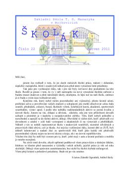 Školák 2011 - ZŠ TG Masaryka Bojkovice