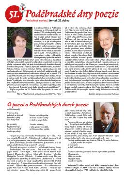 Festivalové noviny 1 - Poděbradské dny poezie