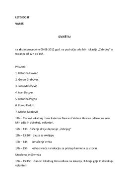 Izvještaj radne grupe Mir-B.Borje