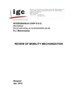 Spisak mehanizacije i transportnih sredstava