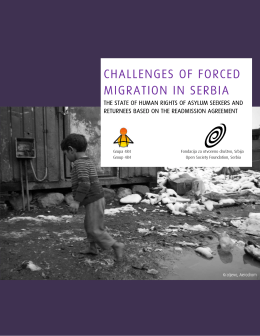 CHALLENGES OF FORCED MIGRATION IN SERBIA