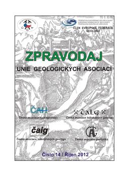 říjen 2012 - Česká asociace ložiskových geologů