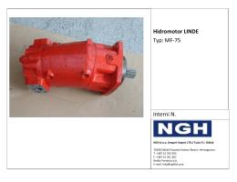Hidromotor LINDE Typ: MF-75 Interni N.