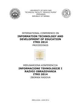 information technology and development of education itro 2014