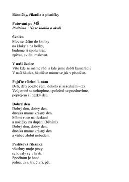 básničky mš dobroměřice