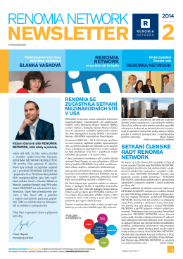 NEWSLETTER - RENOMIA NETWORK