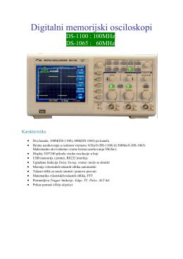 Digitalni memorijski osciloskopi