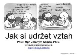 Presentace - Jeroným Klimeš