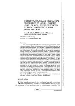 Микроструктура и механичке особине никал-хром-бор
