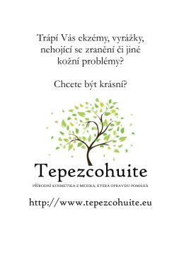 Katalog - Tepezcohuite ČR