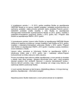 Izvještaji o radu od I do VI.2013