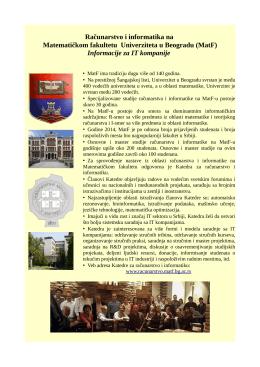 MatF - Katedra za računarstvo i informatiku