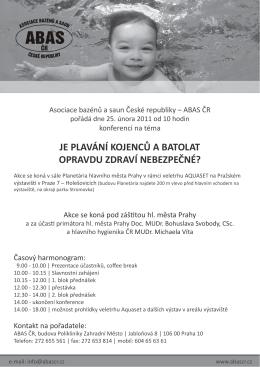 je plavání kojenců a batolat opravdu zdraví nebezpečné?