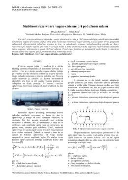 Stabilnost rezervoara vagon-cisterne pri podužnom udaru