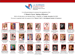 "1st Women`s Forum ""Making a Difference"""