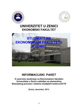 Informacijski paket - Ekonomski fakultet