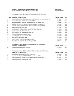 Rezultati 4. Ultramaratona Maraton maratona 2013. Results 4