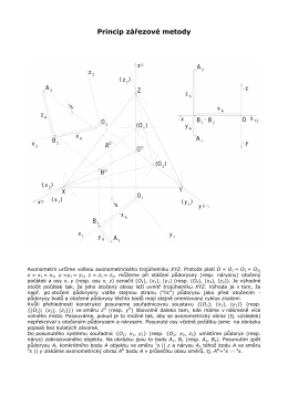 Pravoúhlá axonometrie - princip zářezové metody