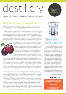 Destillery č. 1/2013 - J. HRADECKÝ, spol. s ro (JHP) Pacov