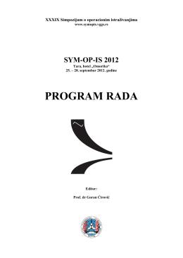 PROGRAM RADA - visoka građevinsko geodetska škola beograd