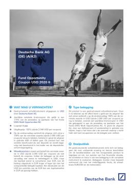 Deutsche Bank AG (DE) (A/A3)