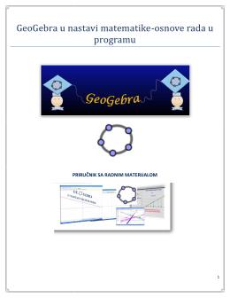 GeoGebra priručnik - ICT u nastavi-školska obuka