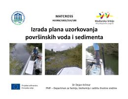 Izrada plana uzorkovanja površinskih voda i