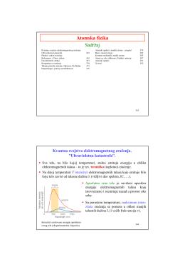 Atomska fizika za studente Tehnološkog fakulteta (PDF)