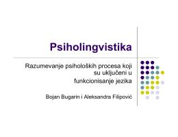 Psiholingvistika 2