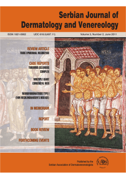 Quick - Serbian Journal of Dermatology and Venereology