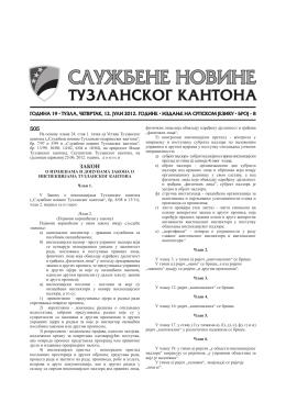 505 ЗАКОН - Skupština Tuzlanskog kantona