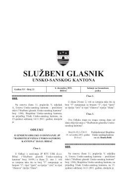 Službeni glasnik Unsko-sanskog kantona – Broj 21
