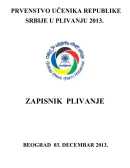 Prvenstvo Srbije u plivanju za osnovne i srednje skole