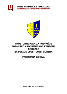prostorni plan za područje bosansko - Vlada Bosansko