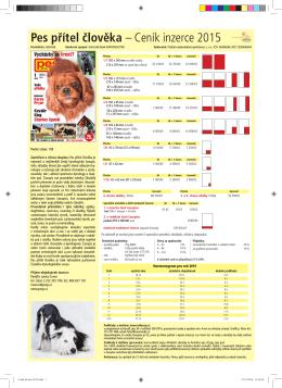 Pes přítel člověka – Ceník inzerce 2015