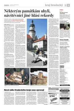 článek v MF Dnes - Zámek Doudleby nad Orlicí