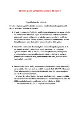 Konference ČRS MO Olomouc 29.3.2014