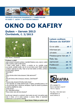 Okno do KAFIRY 2/2013
