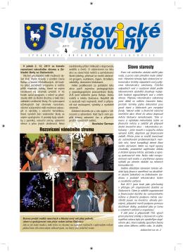 Slušovické noviny – č. 4/2011