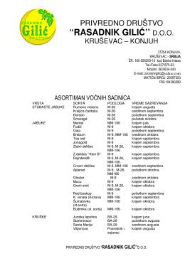 """""""RASADNIK GILIĆ`` D.O.O."""